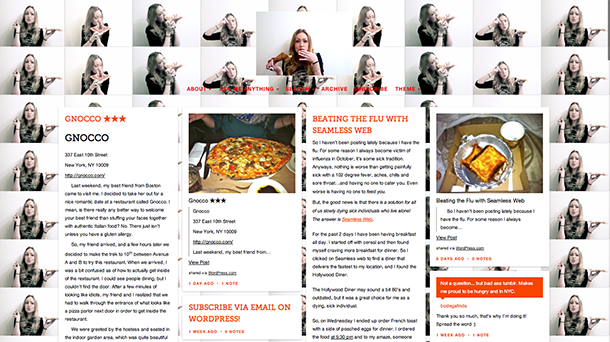 Student's food blog offers fresh perspective