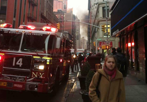 Tisch studio evacuated after fire breaks out nearby
