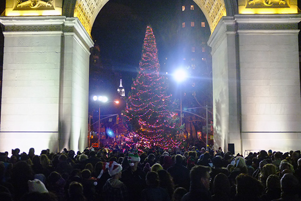 Washington Square Christmas tree lighting ceremony celebrates its 88th year