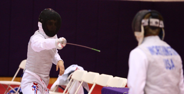 Men's, women's fencing struggle versus tough competition