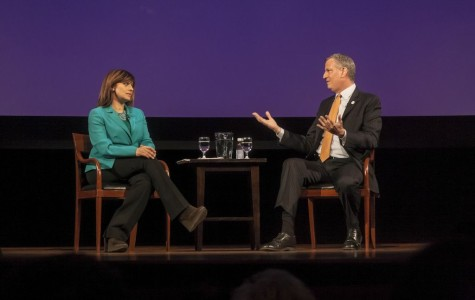 De Blasio, Bartiromo examine city issues at Skirball Center