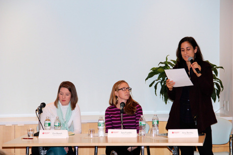 Panel discusses gender, cooking in writing