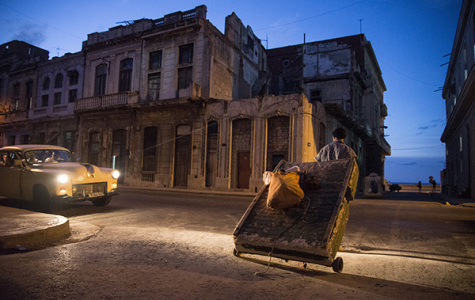 Students study art in Havana