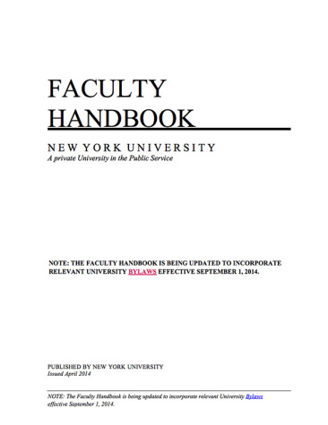 Faculty worried by handbook changes