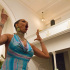 A Drag performer performs for the crowd at Audre Lorde's Trans Day of Remembrance gathering on Nov 19th.