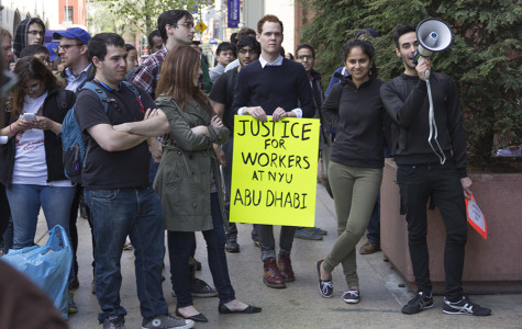 NYU student activists rally in support of Abu Dhabi workers