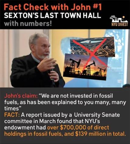 Divest fact-checks Sexton's Town Hall