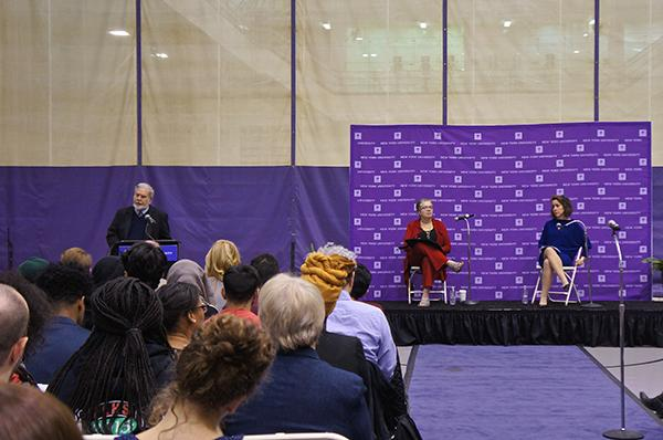 ohn Sexton gave an opening speech for the University-wide conversation on issues of race and diversity on campus in the Coles Sports and Recreation Center on November 18, 2015.