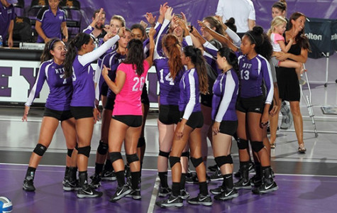 Violets volleyball ends on positive note