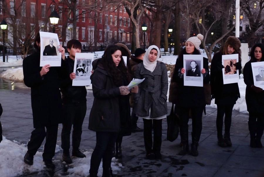 On+January+27%2C+2015%2C+the+International+Holocaust+Day%2C+a+group+of+NYU+students+and+professors+held+a+ceremony+under+the+Washington+Square+Park+arch+to+commemorate+people+who+risked+their+lives.+
