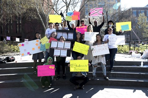 NYU Students Stand in Solidarity With Syrian Refugees