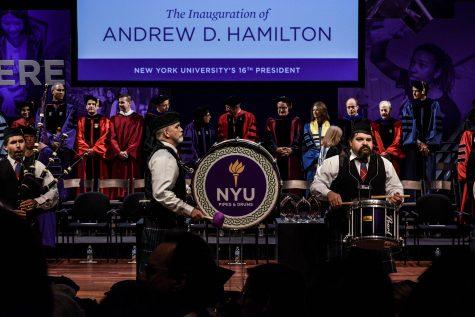 Hamilton Aims High at Inauguration
