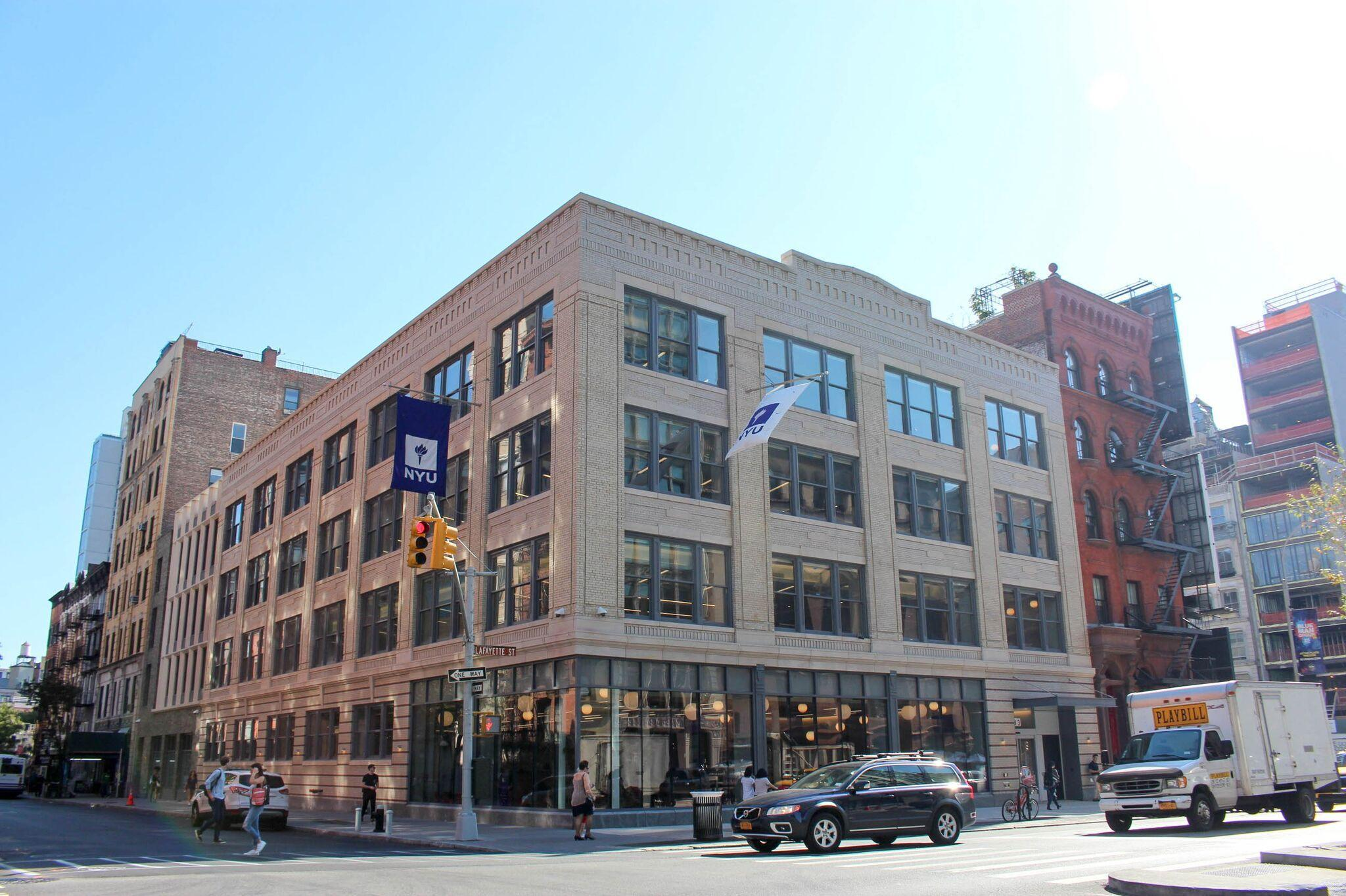 The new StudentLink Center, located at 383 Lafayette St., is only a seven-minute walk from Washington Square Park.