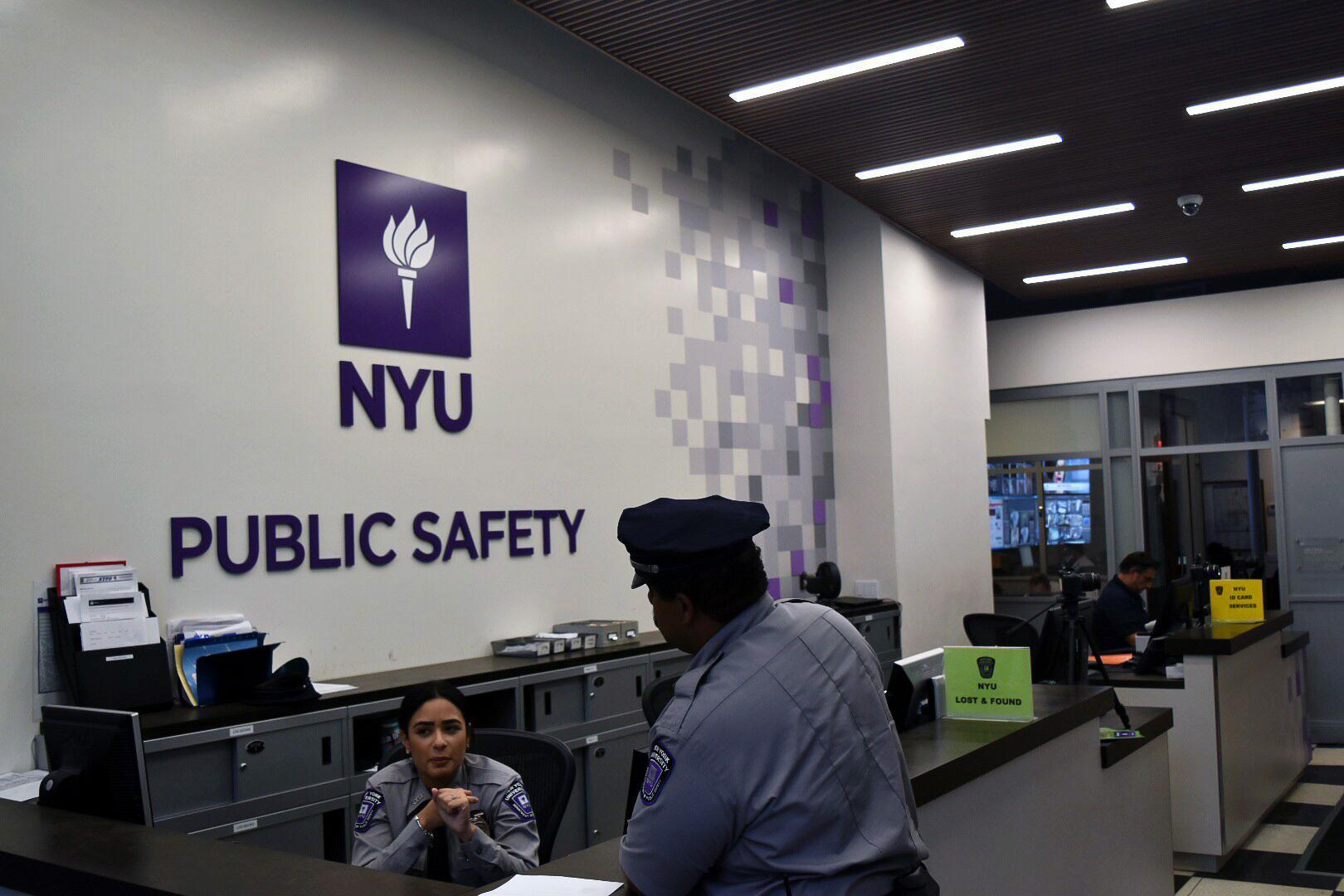 The NYU Public Safety Office, located at 7 Washington Place, is open 24/7 for whatever you may need.