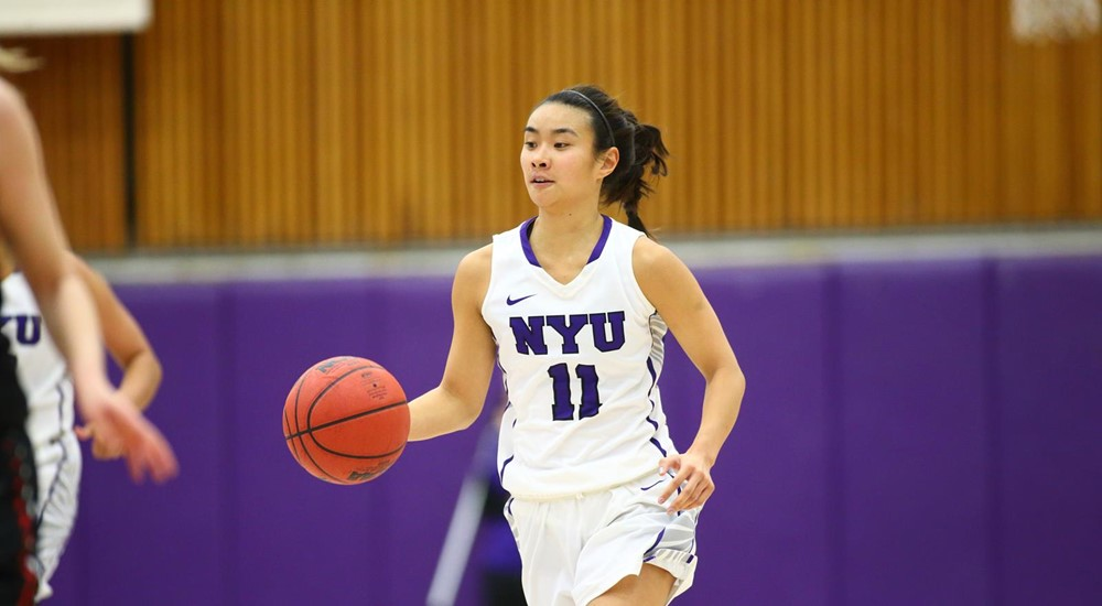 Amy Harioka was the top scoring player for the NYU Women's Basketball Team during their final game of the season and close loss to Springfield on March 3.