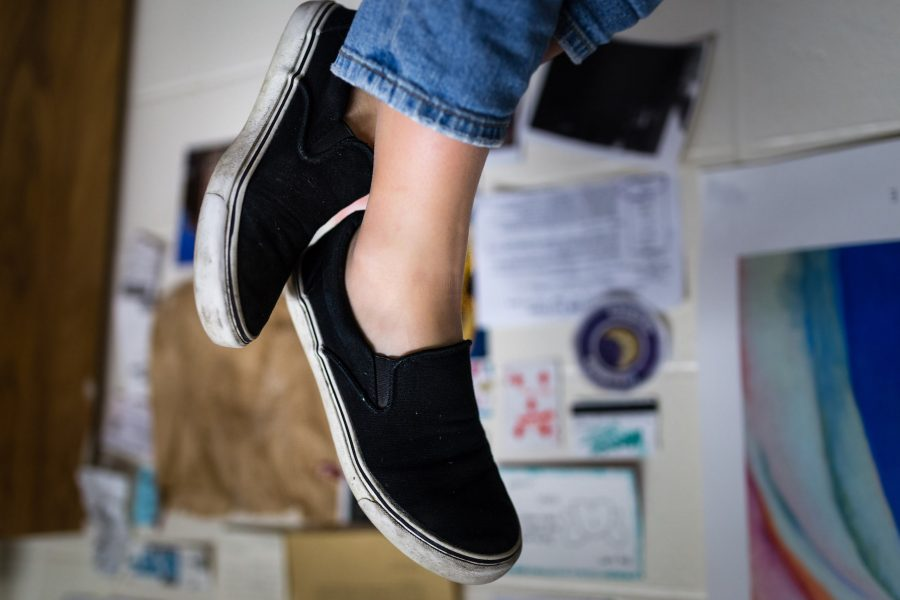 Black+slip-ons+are+a+good+transition+piece+from+the+winter+to+spring.+They+can+be+styled+in+a+variety+of+ways+and+can+be+worn+comfortably+everyday.+
