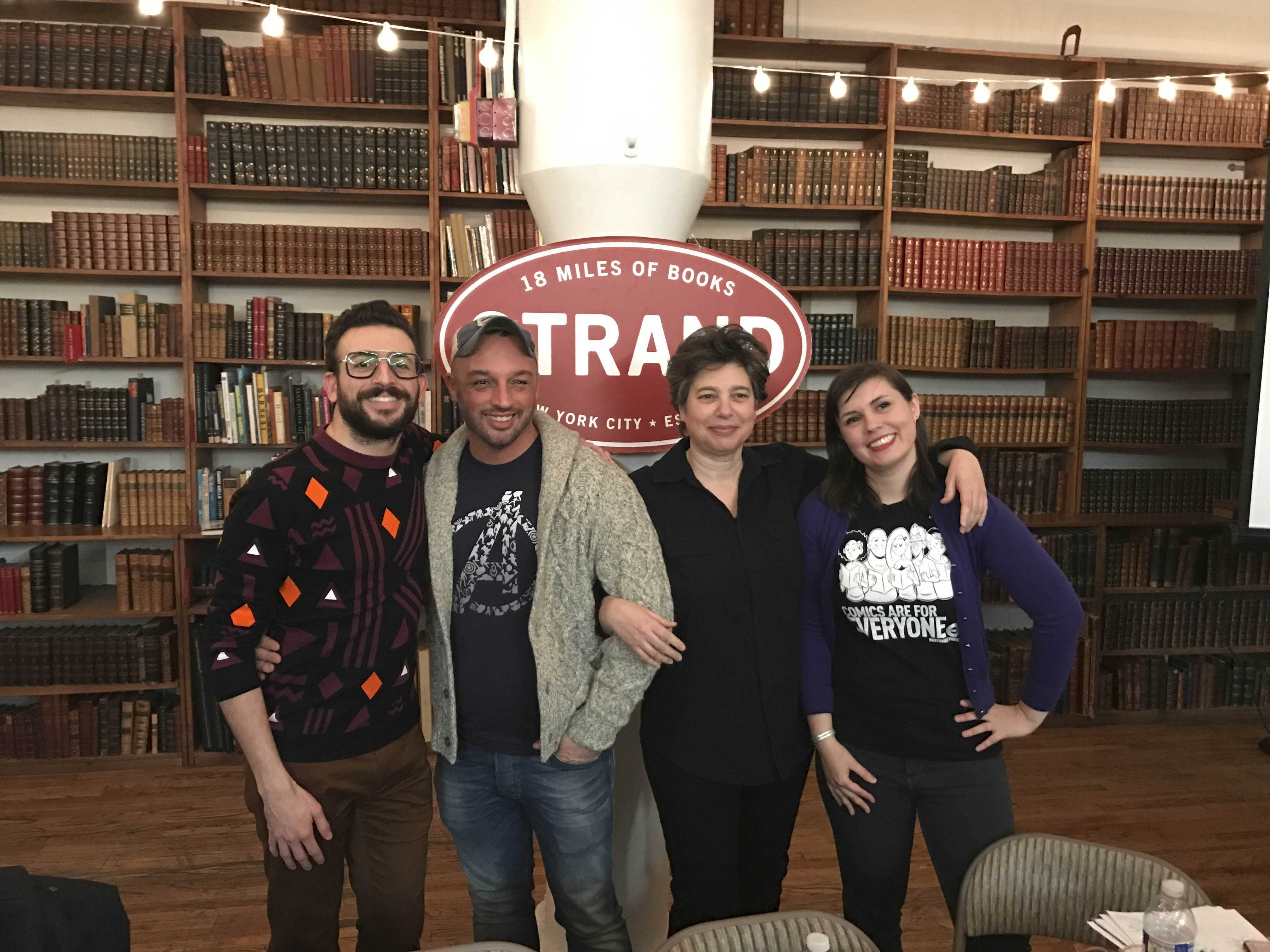 From left to right, Phil Jimenez, Ramzi Fawaz, Jennifer Camper and Margaret Galvan joined the panel hosted in Strand to discuss LGBTQ representation in the comic industry. The panel occurred on March 22.