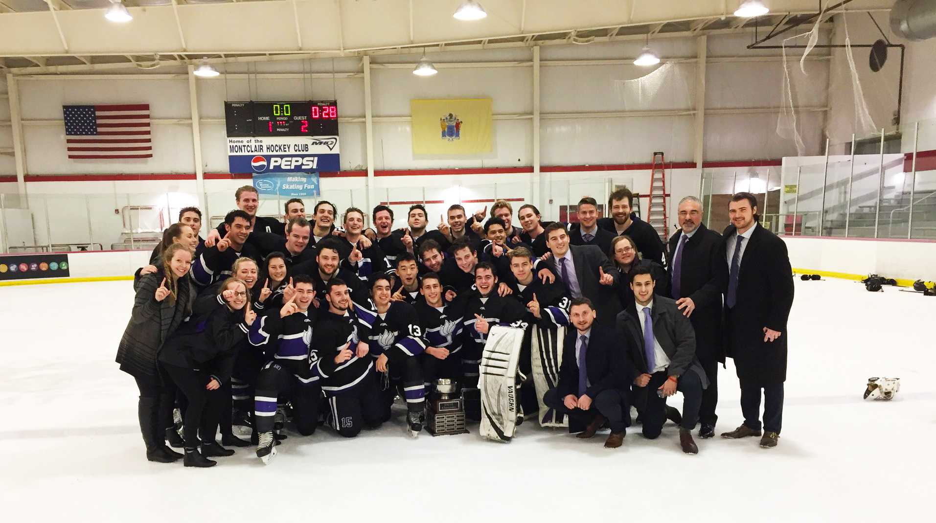 The NYU men's hockey team played their last Division-II game on Sunday night. They ended the season with a victory as the American Collegiate Hockey Association national champions.