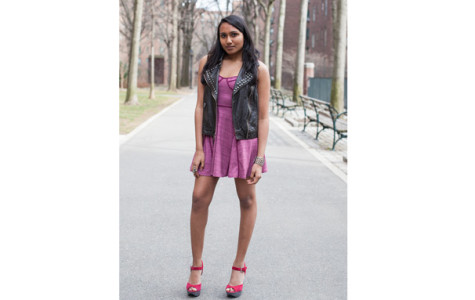 Style your leather vests to complement your spring look