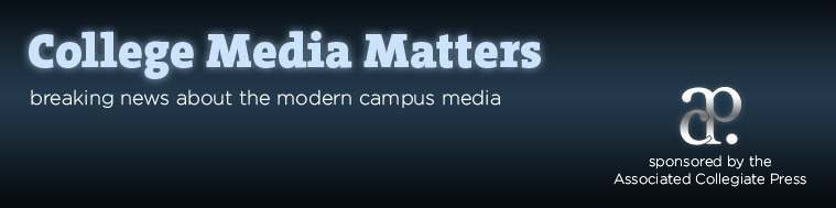 College Media Matters features WSN front page