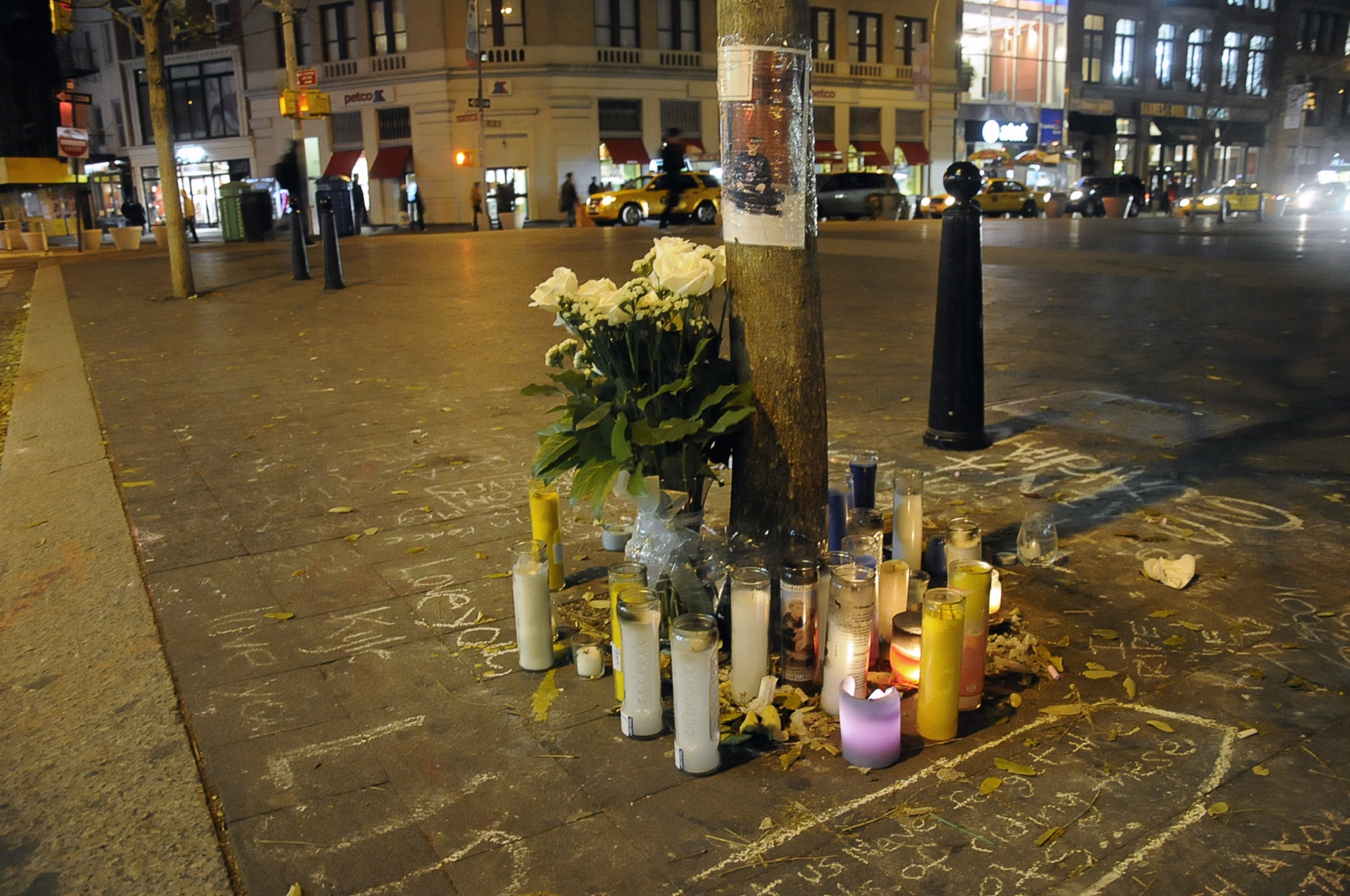 Family, friends of Kyle Larson, 20, gather at Union Square