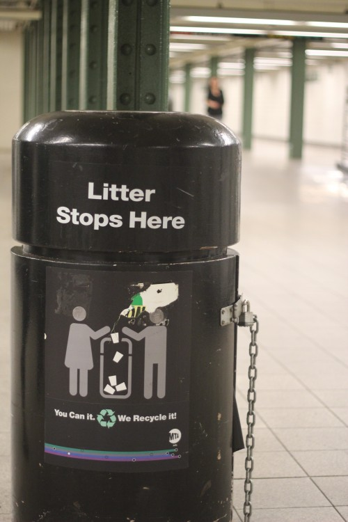 MTA to remove trash containers at ten subway stations