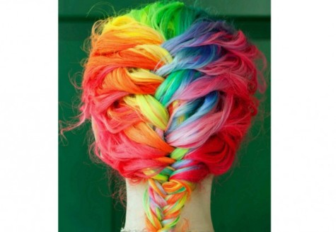 Vibrant hair dyes can create sophisticated, chic styles