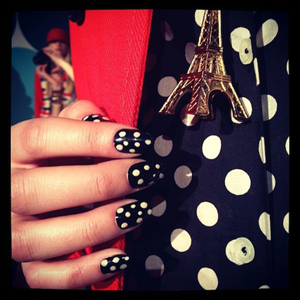 Intricate nail polish can add flair to any outfit