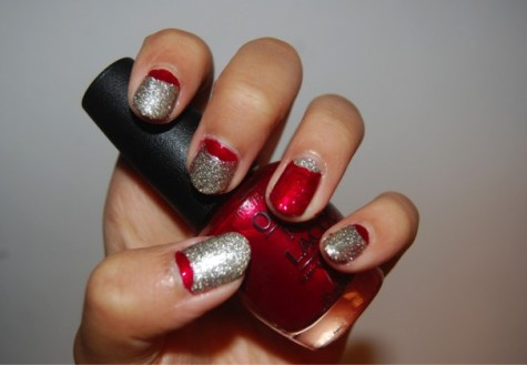 Reverse-French manicures put twist on classic design