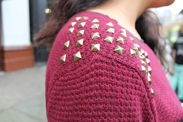 DIY: Add studs to style a sweater