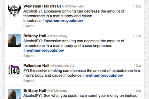 #NYUthemoreyouknow aims to educate students on safe drinking