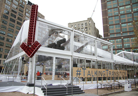 Talking Transition Tent gives NYC residents platform to recommend changes