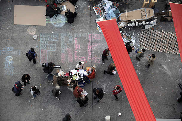 BREAKING: Students set up barricade in Cooper Union, demand free education