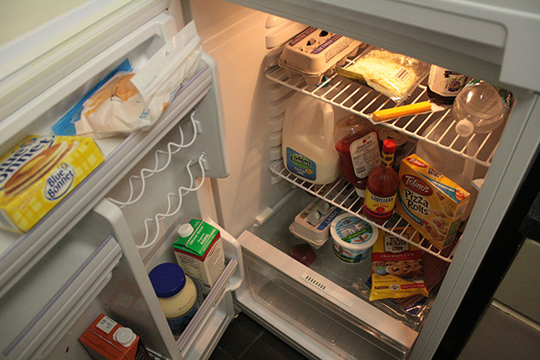 Freshman keeps his small U-Hall kitchen stocked with holiday goodies