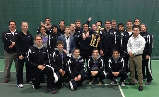 Violets fight to win first in wrestling tournament