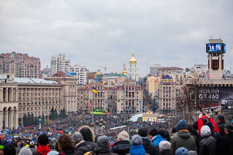 Ukraine protests fueled by social media