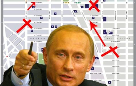 Shirtless Putin invades NYU