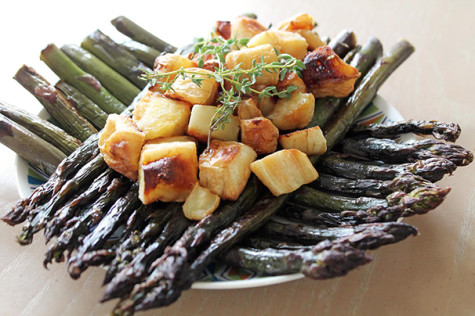 WSN Recipes: Roasted parsnips with asparagus