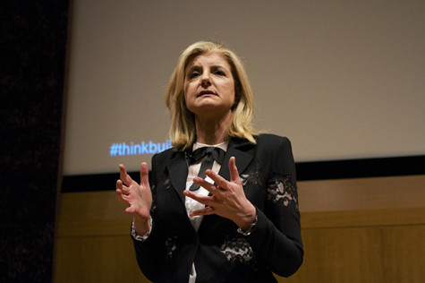 Huffington gives wake-up call at Stern conference