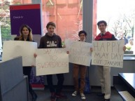 [UPDATE] SLAM, other groups bring JanSport protest to Welcome Center