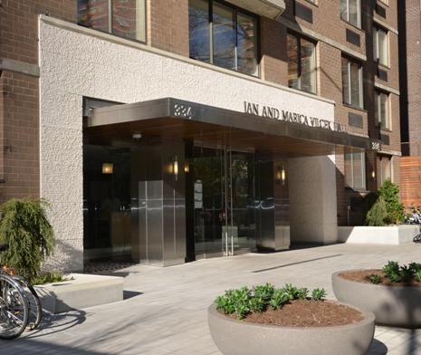 The front of NYU Langone's Vilcek Hall