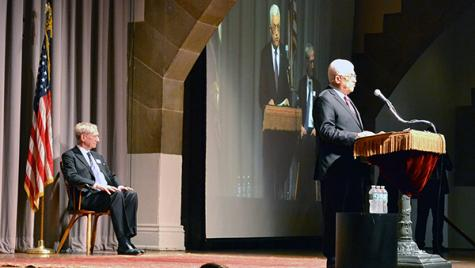 From the Emirates: Mahmoud Abbas speaks at the Cooper Union