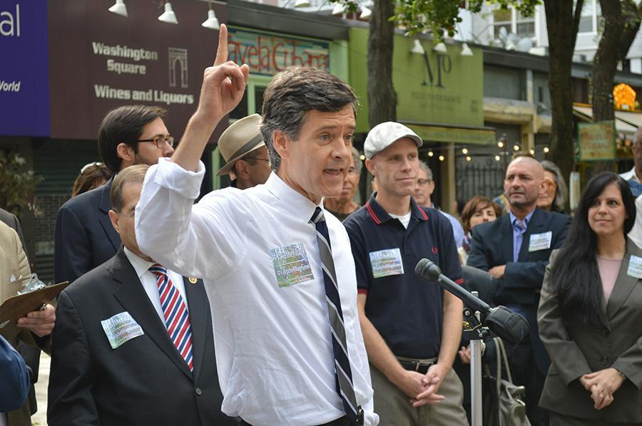 State+Senator+Brad+Hoylman+addresses+a+rally+opposing+NYU%27s+2031+expansion+plan+on+Wednesday%2C+Sept.+24%2C+2014.