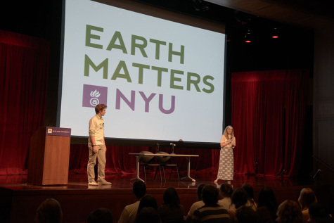 Environmental reps speak at NYU rally