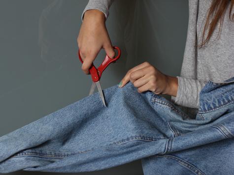 Knee-slit jeans bring polished look to denim