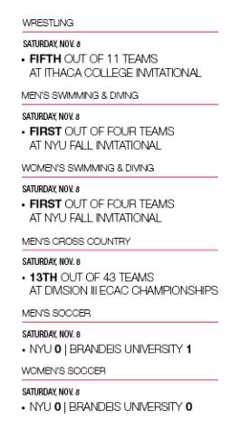 Weekend Wrap Up: Nov. 7-9