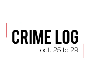Crime Log: Oct. 25-29