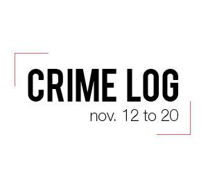 Crime Log: Nov. 12-20