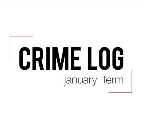 Crime Log: January term