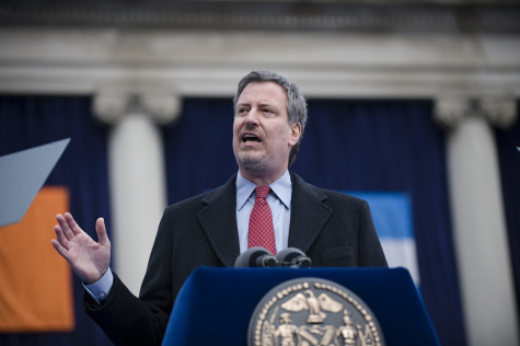 De Blasio confronts city housing shortage